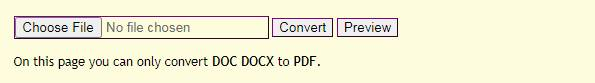 Convertonlinefree.com Word to PDF