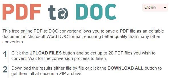 Pdf2doc.com PDF to DOC