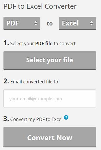 Pdftoexcelonline.com PDF to Excel Converter