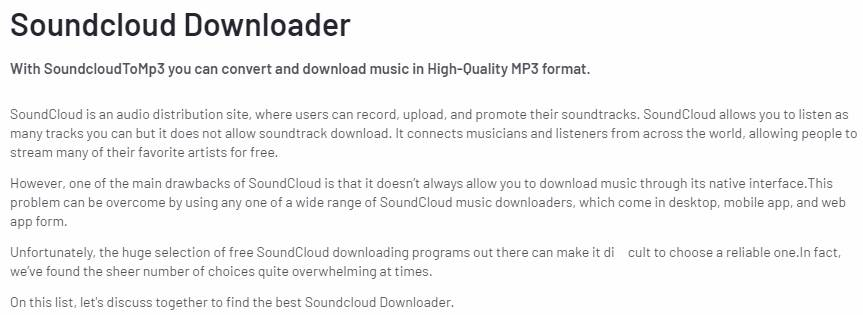 Scdownloader.io Soundcloud Downloader