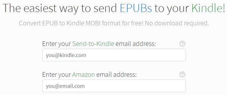 Sendepubtokindle.com EPUB to Kindle