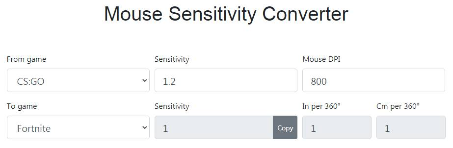 Sensitivityconverter.com Mouse Sensitivity Converter