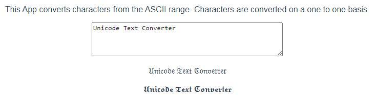 Textconverter.net Unicode text converter