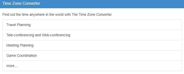 Timezoneconverter.com Time Zone Converter