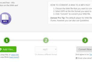 zamzar.com Convert M4A to MP3
